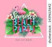summer beach party typography...   Shutterstock .eps vector #1439615642