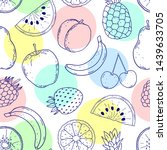 seamless pattern with hand... | Shutterstock .eps vector #1439633705
