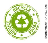Recycle Green Emblem Or Symbol...