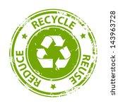 Recycle Green Emblem Or Symbol...