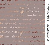 rose gold. indistinct written... | Shutterstock .eps vector #1439686622
