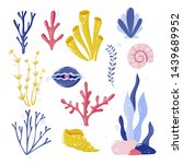 collection of seaweeds ... | Shutterstock .eps vector #1439689952