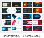 set of 10 double sided business ...   Shutterstock .eps vector #1439692268
