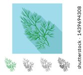 vector design of dill and... | Shutterstock .eps vector #1439694308