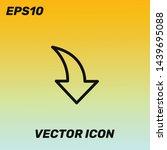 down arrow vector icon...