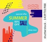 sale website summer banner.... | Shutterstock .eps vector #1439701988