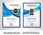 certificate template clean and... | Shutterstock .eps vector #1439703422