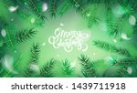 green nature abstract panoramic ... | Shutterstock .eps vector #1439711918