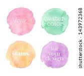 beautiful watercolor design... | Shutterstock .eps vector #143972368