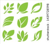 leaves icon set  leaf design... | Shutterstock .eps vector #1439728598