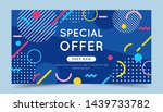 special offer colorful banner... | Shutterstock .eps vector #1439733782