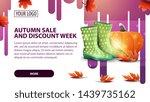 autumn sale and discount week ...   Shutterstock .eps vector #1439735162