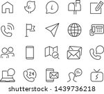 set of contact icons  such as... | Shutterstock .eps vector #1439736218