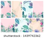 abstract background with... | Shutterstock .eps vector #1439742362