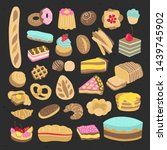 bakery products  bread  cakes ...   Shutterstock .eps vector #1439745902