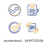 confirmed  audit and rfp icons... | Shutterstock .eps vector #1439752328