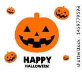 happy halloween greeting card... | Shutterstock .eps vector #1439779598