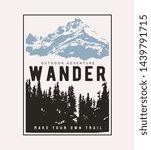 typography slogan on alpine... | Shutterstock .eps vector #1439791715