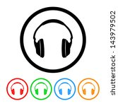 headphones icon with four color ... | Shutterstock . vector #143979502