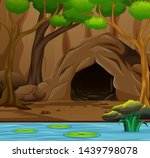 nature scene background with... | Shutterstock .eps vector #1439798078