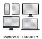 realistic set of monitor ... | Shutterstock .eps vector #1439809475