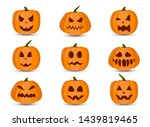 set of pumpkin isolated on...   Shutterstock .eps vector #1439819465