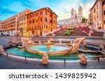 Piazza De Spagna In Rome  Ital...