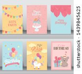 happy birthday  holiday  baby... | Shutterstock .eps vector #1439845625