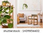 the stylish boho interior of...   Shutterstock . vector #1439856602