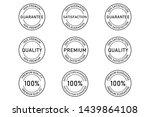 100  satisfaction premium... | Shutterstock .eps vector #1439864108