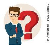 businessman thinking  question... | Shutterstock .eps vector #1439888882