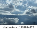 atmosphere of the sky and rain... | Shutterstock . vector #1439894975