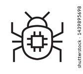 virus bug icon in trendy...