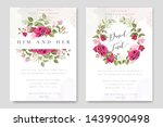beautiful wedding invitation... | Shutterstock .eps vector #1439900498