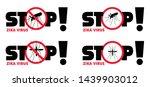 stop malaria no mosquito bite... | Shutterstock .eps vector #1439903012