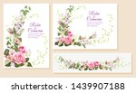 set wedding invitation cards....   Shutterstock .eps vector #1439907188