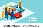 auto repair shop concept.... | Shutterstock .eps vector #1439907812