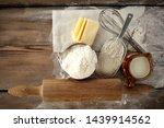 kitchen desk and fresh white... | Shutterstock . vector #1439914562