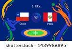 chile vs peru championship team ... | Shutterstock .eps vector #1439986895