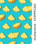 pineapple fruits slice seamless ...   Shutterstock .eps vector #1439991362