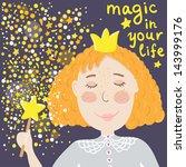 Vector Card With Redhead Fairy...