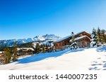 Courchevel Village In Alps...