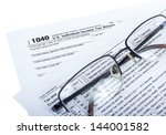 american federal tax form 1040... | Shutterstock . vector #144001582