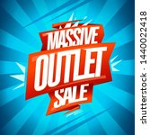 massive outlet sale banner ... | Shutterstock .eps vector #1440022418