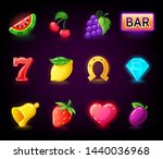 colorful slots icon set for... | Shutterstock .eps vector #1440036968