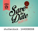save the date template vector... | Shutterstock .eps vector #144008008