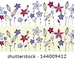 seamless pattern  bed with... | Shutterstock .eps vector #144009412
