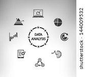 data analysis info graphic ... | Shutterstock .eps vector #144009532