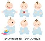 baby illustration variation | Shutterstock . vector #144009826
