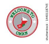 vector stamp of welcome to oman ...   Shutterstock .eps vector #1440118745